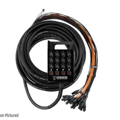 PERSEUS 12 x 4 Channel 150' ft XLR Mic High Quality Stage Studio Snake w/ TECHFLEX