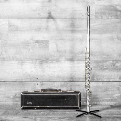 Artley Wilkins Model Flute Open Hole, Solid Silver Low C Foot