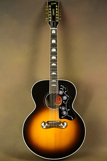 1995 gibson sj 200 12 string custom acoustic guitar j 200 reverb. Black Bedroom Furniture Sets. Home Design Ideas