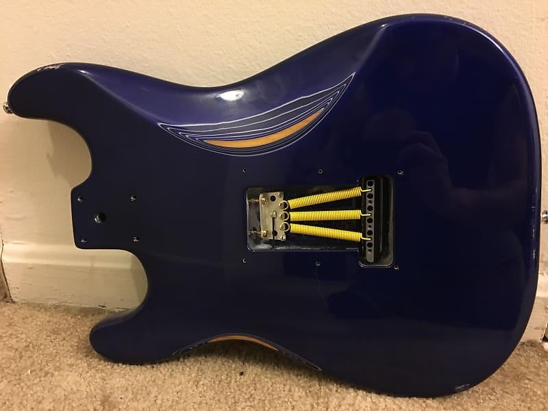 Squier Affinity Strat Body, Heavy Relic, Navy Blue, Upgraded Bridge  Saddles, Springs, Stratocaster