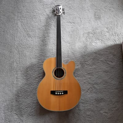 Ashbury AGB-40 Fretless Electro-Acoustic Bass for sale