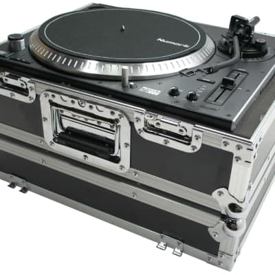 Harmony HC1200E Flight Foam DJ Turntable Custom Case fits Audio Technica AT-LP120