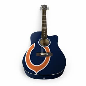 Woodrow Chicago Bears Acoustic Guitar Graphic