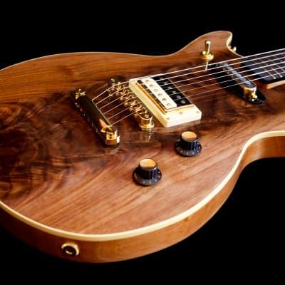 Fab Guitars Walnut Fab Coruña Masterbuilt 2017 Figured Walnut Top On Alder Body for sale