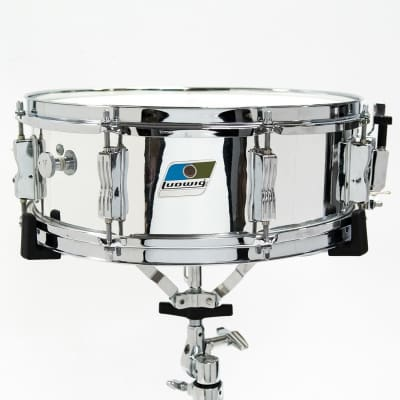 "Ludwig L-600 S/L Series 5x14"" Chrome Over Wood Snare 1980s"