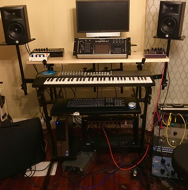 On Stage Stands Ws8700 Studio Workstation And Desk Reverb