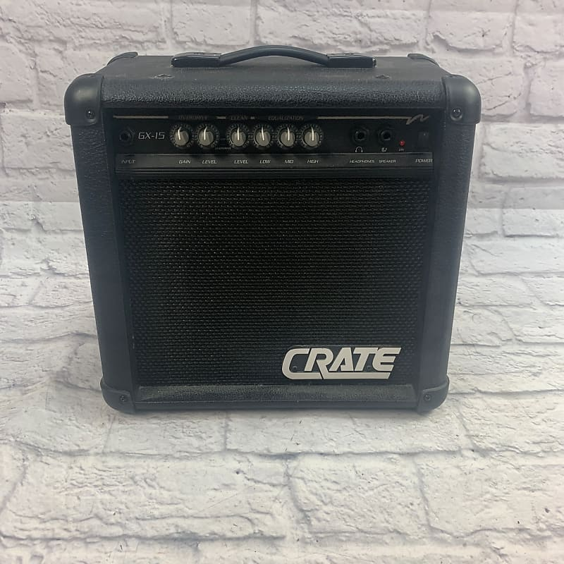 crate gx15 15 watt guitar practice amp evolution music reverb. Black Bedroom Furniture Sets. Home Design Ideas