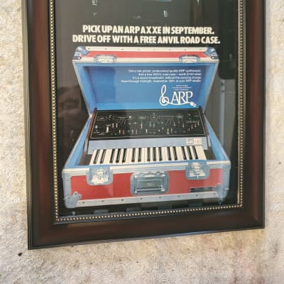 1976 Arp Synthesizers Color Promotional Ad Framed Arp Axxe Original