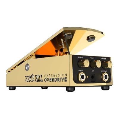 Ernie Ball Expression Overdrive Boost Tone Guitar Effects Pedal Stompbox Gold