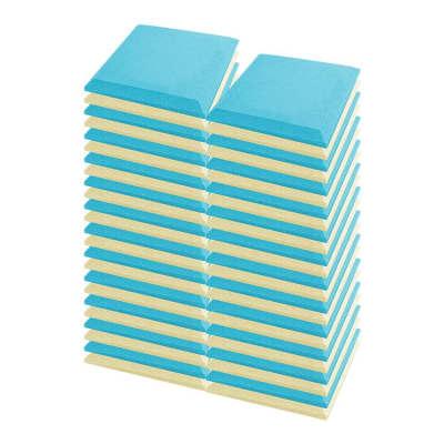 Arrowzoom 48 pcs Pearl White & Baby Blue Flat Bevel Tile Acoustic Foam 19.6 x 19.6 x 1.9 inches KK1039
