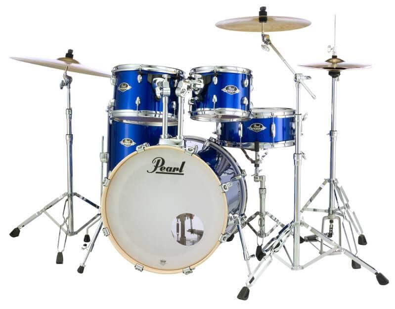 High Voltage Drummer : Pearl export bass drum high voltage blue reverb
