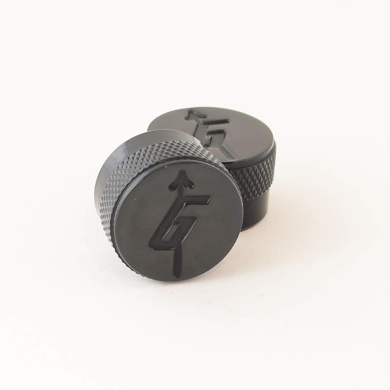 gretsch knobs black set of 2 thompson guitar parts reverb. Black Bedroom Furniture Sets. Home Design Ideas