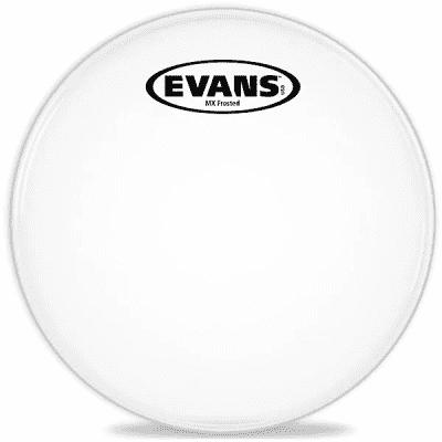 "Evans TT12MXF MX Frost Marching Tenor Drum Head - 12"""