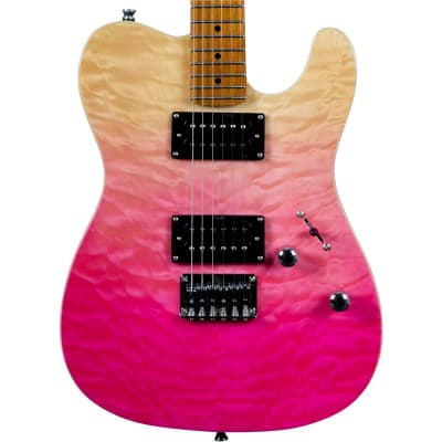 JET Guitars JT-450, Quilted Top, Pink for sale