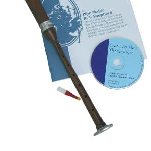 Roosebeck BAGL-BC Bagpipe Practice Chanter Sheesham Book and CD