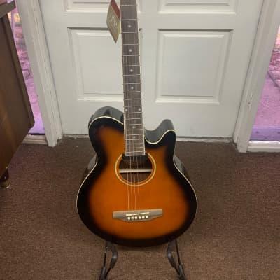 JBP Acoustic Electric Guitar Tobacco Sunburst for sale