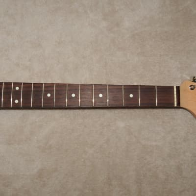 Used MIJ Rosewood on Maple Stratocaster Neck Thin Semi-gloss Nitrocellulose Finish  21 Vintage Frets