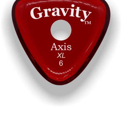 Gravity Picks Axis XL Round Grip 6mm Red Acrylic <GAXX6PR>