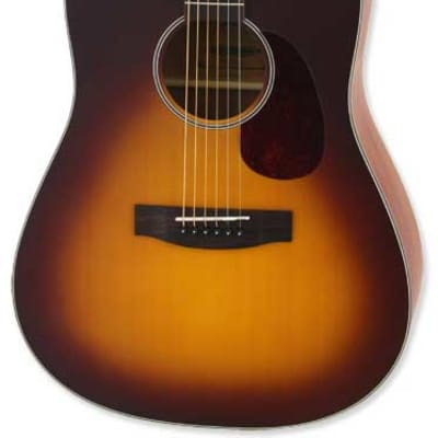 Aria Vintage 100 Series Dreadnought Matte Tobacco Burst for sale