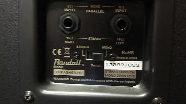 Randall Thrasher 212 2x12