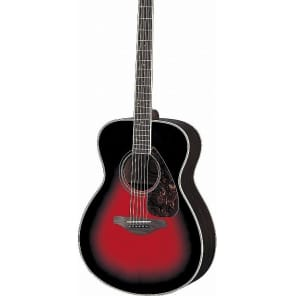 Yamaha FS730S-DSR Solid Spruce Top Grand Auditorium Acoustic Guitar Dusk Sun Red