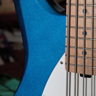 Ernie Ball OLP MM3 (Stingray 5 model) early 2000 Lake Placid Blue for sale
