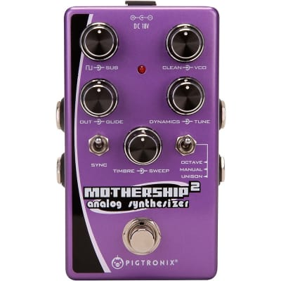 Pigtronix Mothership 2 Analog Synthesizer Pedal Regular