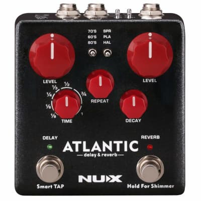 NUX Atlantic Multi Delay and Reverb Guitar Effect Pedal with Routing and Secondary Reverb Effects