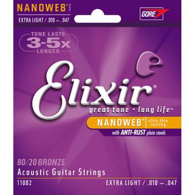 Elixir Nano  Acoustic Guitar Strings Extra Light 10-47