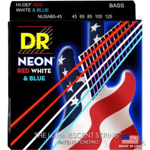 DR NUSAB5-45 Hi-Def Neon 5-String Bass Strings - Medium (45-125)