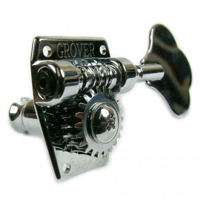 Grover Vintage Bass Machine Heads - 4 a side - Chrome for sale