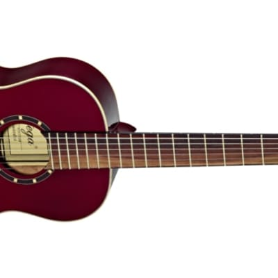Ortega Family Series Gloss 1/2 Size Red Acoustic Guitar Spruce for sale