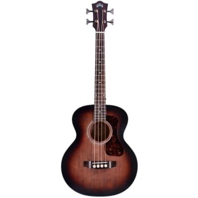 Guild Jumbo Junior Bass Antique Charcoal Burst Electro-Acoustic Bass Guitar for sale