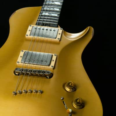 2009 Warrior Aged Gold Top Single Cutaway Thin Solid Body USA Made 7lbs Mint*331-R542War for sale