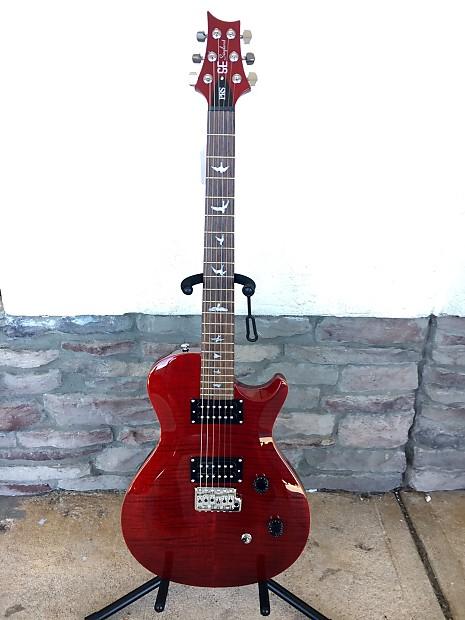 prs se singlecut tremolo electric guitar trans red reverb. Black Bedroom Furniture Sets. Home Design Ideas