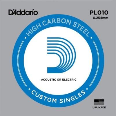 D'Addario PL010 Plain Steel Guitar Single String