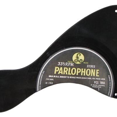 Pickguard for Gibson Junior electric guitar from vinyl record