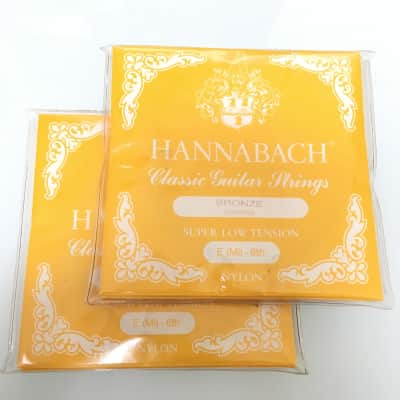Hannabach 2 x 807 SLT Classic guitar strings nylon / bronze polished