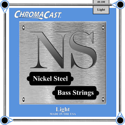 ChromaCast Nickel Steel Bass Guitar Strings, 40-100, Light