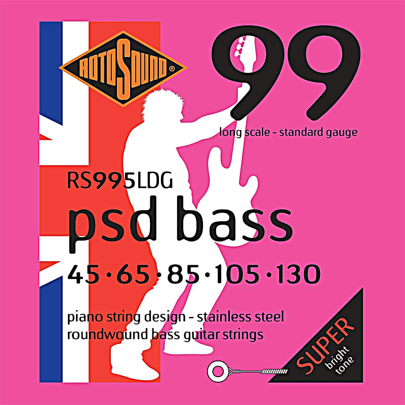 rotosound rs995ldg psd bass stainless steel 5 string bass reverb. Black Bedroom Furniture Sets. Home Design Ideas