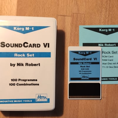 "Korg M1 ROM-Card Metrasound VI ""Rockset""1989 very rare - for Korg Workstations"