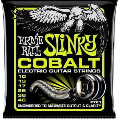 Ernie Ball Cobalt Slinky Electric Guitar Strings - 10-46 Regular Slinky 2721EB