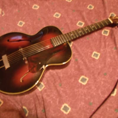 Vintage ca 1937 pre-war Gretsch American Orchestra 35 Archtop Acoustic Beauty VG for sale