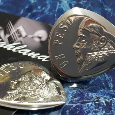 FAO David......Three (3) Mexican Un Peso Coin Plectrums.