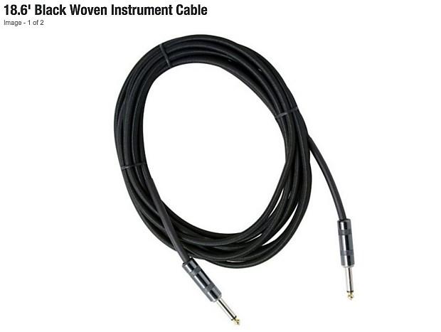 strukture 18 6 u0026 39  black woven instrument cable