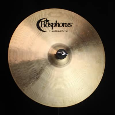"Bosphorus 15"" Traditional Series Medium Thin Crash - 785g (video demo)"