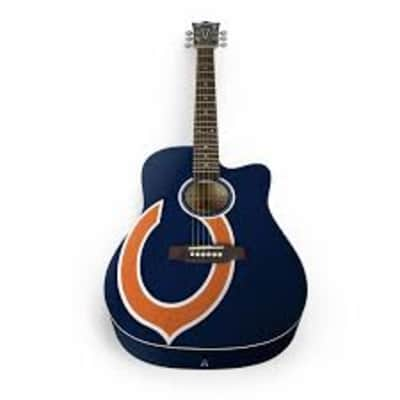 Chicago Bears Acoustic Guitar -  No Double Doink Here Free Ship for sale