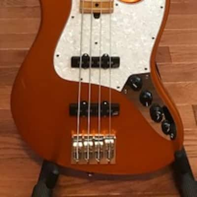 Mike Lull M4V - Orange Tangerine with Aguilar Preamp and Pickups for sale