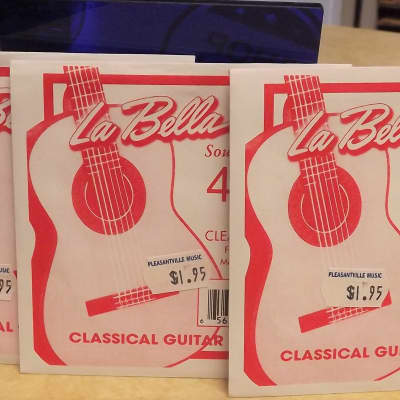 La Bella 418 Clear Nylon B 2nd Classical Guitar String Set of 3