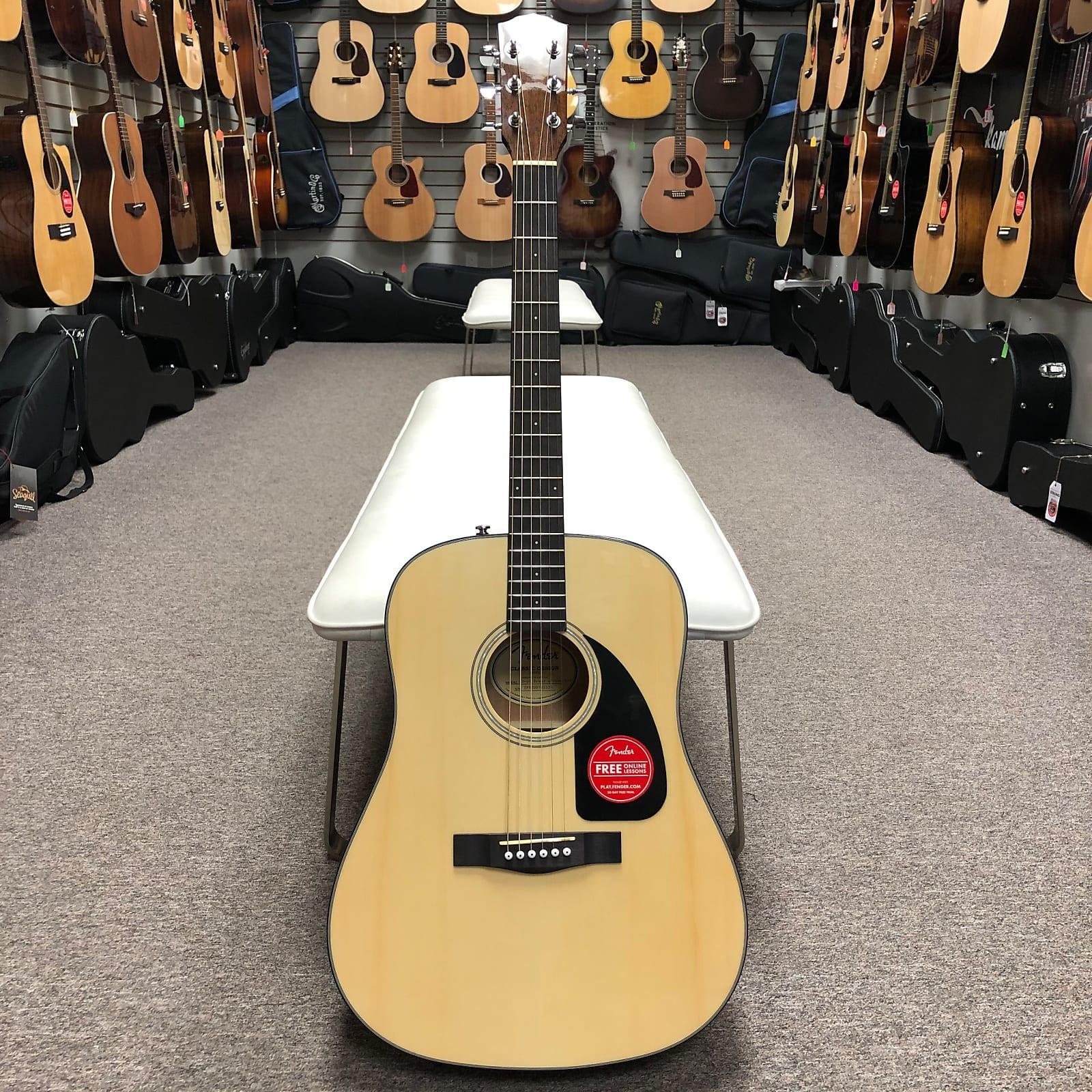 Fender CD-60 V3 Acoustic Guitar w/ Case - Natural